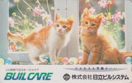Télécarte Japon / 110-016 - Animal - CHAT Chats ** Builcare ** - CAT Japan Phonecard - KATZE - GATTO -  4902 - Gatti