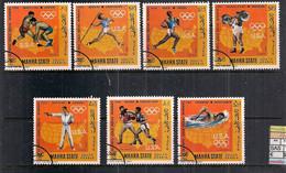 ARABIA DEL SUD  1968  MAHRA  VINCITORI AMERICANI GIOCHI OLIMPICI YVERT. 15 + POSTA AEREA 13 USATA VF - Arabia Saudita