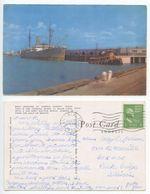 United States 1950 Boat Docking At Corpus Christi Texas Postcard La Feria TX Pmk - Corpus Christi