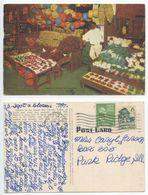Mexico 1949 Market Place Postcard La Feria Texas To Park Ridge Illinois - Mexico