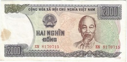 Vietnam 2.000 Dong 1987 Pick 103a RARO Ref 1 - Viêt-Nam