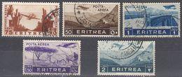 ERITREA - Lotto Di 5 Valori Usati Di Posta Aerea:  Yvert 19 E 21/24, Come Da Immagine. - Eritrea