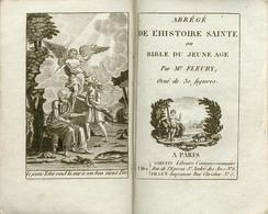 Abrégé De L'Histoire Sainte Ou Bible Du Jeune Age Par Mr Fleury - Orné De 30 Figures - 1811 - Bücher, Zeitschriften, Comics
