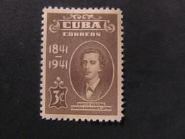 1942 - CUBA - IGNACIO AGRAMONTE LOYNAZ - SCOTT 373 A112 3C - Cuba