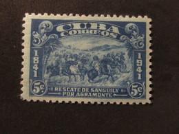 1942 - CUBA - RESCUE OF SANGUILY - SCOTT 374 A113 5C - Cuba