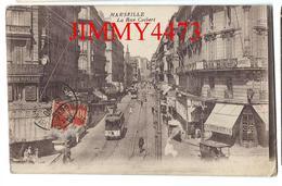 CPA - La Rue Colbert Bien Animée En 1916, Tramways, Magasins - MARSEILLE 13 Bouches Du Rhône - Scans Recto-Verso - Canebière, Centro