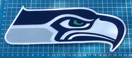 """Seattle Seahawks Football NFL Superbowl Logo Patch Huge 9.6"""" Jersey Embroidered - Seattle Seahawks"""