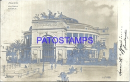 105731 ITALY PALERMO SICILIA POLITEAMA GARIBALDI POSTAL POSTCARD - Bolivie