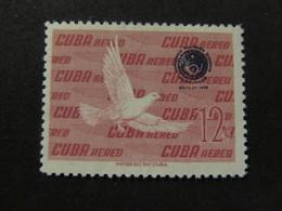 1960 - CUBA - OVERPRINTED IN DARK BLUE - SCOTT C210 AP62 12C (1) - Cuba
