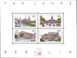 Berlin Bloc N** Yv:8 Mi 8 Yv:7,5 Euro 750 Jahre Berlin - [5] Berlin