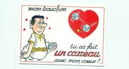 Illustrateur Alexandre - Serie Boules Mon Bouchon Tu As Fait Un Carreau Avec Mon Coeur Petanque   W 381 - Alexandre