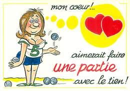 Illustrateur Alexandre - Serie Boules - Mon Coeur Aimerait Faire Une Partie Avec Le Tien  Petanque   W 381 - Alexandre