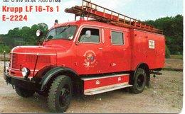 Pompier Fire Brigade Feuerwehr  Timbre Stamp Télécarte Allemagne 7000 Ex Phonecard Germany Deutsche (G 655) - Pompiers