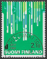 Finland SG MS1298(ex) 1992 75th Anniversary Of Independence 2m.10 Good/fine Used [39/31794/6D] - Gebraucht