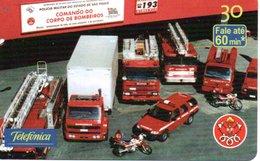 Pompier Fire Brigade Feuerwehr Voiture Camion Car Télécarte Brésil Phonecard (G 658) - Pompiers