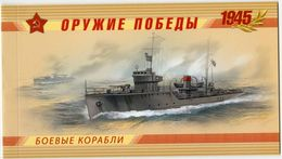 Russia, 2013, Mi. 1927C-30C, Sc. 7443-46, Weapon Of The Victory, Ships, Prestige Booklet - 1992-.... Federation