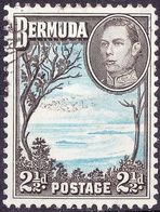 BERMUDA 1941 KGVI 2.5d Light Blue & Sepia-Black SG113a Fine Used - Bermuda