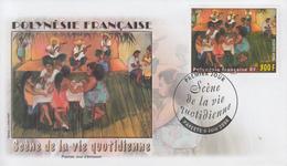 Enveloppe  FDC  1er Jour  POLYNESIE  Scéne   De  La  Vie  Quotidienne  2006 - FDC