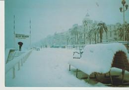CP - PHOTO - NICE SOUS LA NEIGE - JANVIER 1985 - 30 CM DE NEIGE SUR LA PROMENADE DES ANGLAIS - 6 - GILLETTA - Autres