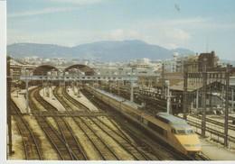 CP - N° 1 T.G.V. EN GARE DE  NICE - 100 ANS DE LA COTE D'AZUR - 1988 - SOUS LE PATRONAGE DU COMITÉ RÉGIONAL DE TOURISME - Autres