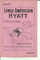 Buvard - Linge Américain Hyatt - Avion -  - Réf.30. - Textile & Clothing