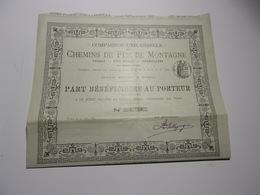 Compagnie Universelle Des CHEMINS DE FER DE MONTAGNE (1897) - Actions & Titres