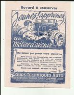 """02 - Aisne - St.Quentin - Rue Dc.Cordier - Rare Buvard """" Cours Techniques Auto""""- Réf.30. - Automobile"""