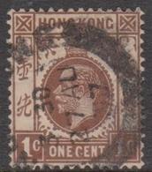 Hong Kong Scott 109 1912 King George V Definitive 1c Brown, Used - Hong Kong (...-1997)