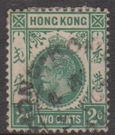 Hong Kong Scott 110 1912 King George V Definitive 2c Green, Used - Hong Kong (...-1997)