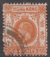Hong Kong Scott 112 1912  King George V Definitive 6c Orange, Used - Hong Kong (...-1997)