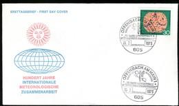 07284) BRD - Mi 760 - FDC - OO Offenbach  - 30Pf                    Metreologische Zusammenarbeit - [7] República Federal