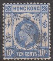 Hong Kong Scott 114 1912  King George V Definitive 10c Ultra, Used - Hong Kong (...-1997)