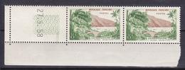 N° 1125 Série Touristique: La Rivière Sens  Guadeloupe En Paires De 2 Timbres Neuf Impeccable Coins Datés 27.5.58 - Dated Corners