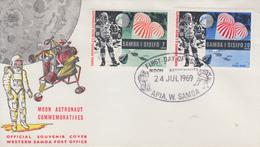 Enveloppe  FDC   1er  Jour   SAMOA   L' HOMME  SUR  LA  LUNE   1969 - Samoa