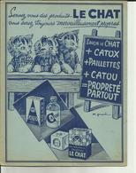 """Protège Cahier """" Le Chat """" Savon - Les Chats à L'école -  - Réf.30. - Produits Ménagers"""