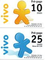 2 Cartes Prépayées Italie VIVO Télécarte Phonecard (G 664) - Italie