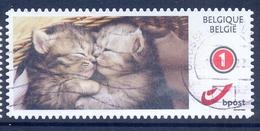 BELGIE BELGIQUE   1 Duostamp - Obl/gest/used - No  Paper Kat Cat Kiss - België