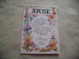 BELLE ILLUSTRATION PRENOM JEROME - Prénoms
