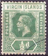 BRITISH VIRGIN ISLANDS 1913 KGVI 1/2d Green SG69 FU - British Virgin Islands