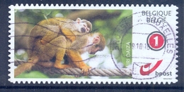 BELGIE BELGIQUE   1 Duostamp - Obl/gest/used - Of  Paper  Monkey Aap 2017 Pairi Daiza - België