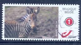 BELGIE BELGIQUE   1 Duostamp - Obl/gest/used - Of  Paper  Zebra  2017 Zoo Pairi Daiza - België