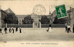 1914- Sur C P A De Lyon Affr. 10 C FLAMME  Lyon-Exposition / Rhone  + EXPOSITION -1914- LYON - Storia Postale
