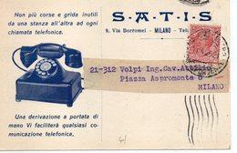 MILANO - VIA BORROMEI - S.A.T.I.S. Per LINEE TELEFONICHE - VIAGGIATA - Milano (Milan)