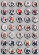 35 X Led Zeppelin BAND - Robert Plant Music Fan ART BADGE BUTTON PIN SET 2 (1inch/25mm Diameter) - Music