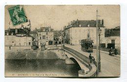 CPA   18 : BOURGES  Pont Et Tramway   VOIR  DESCRIPTIF §§§ - Bourges