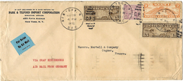 """20 May 1936- Cover From N Y  """" Via Graf Zeppelin HINDENBERG  """" Franking 89 Cents To Cognac (France) - Zeppelins"""