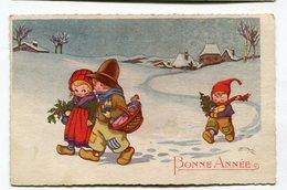 CPA   Illustrateur  : Bonne Année Avec Enfants VOIR   DESCRIPTIF  §§§ - Autres Illustrateurs