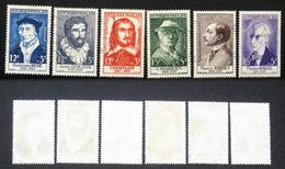 N° 1066 à 1071 Personnage Célèbre 1956 Oblit Cote 48€ - France