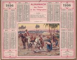 ALMANACH DES POSTES 1936 - FORMAT LIVRET CARTONNE SIMPLE- COMPLET AVEC CARTE - DEPARTEMENT DE L'ISERE. - Calendars
