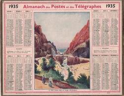 ALMANACH DES POSTES 1935 - FORMAT LIVRET CARTONNE SIMPLE- COMPLET AVEC CARTE - DEPARTEMENT DES BOUCHES DU RHONE. - Calendars